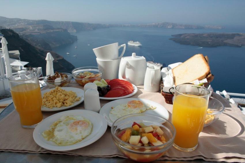 Santorini_Frühstück