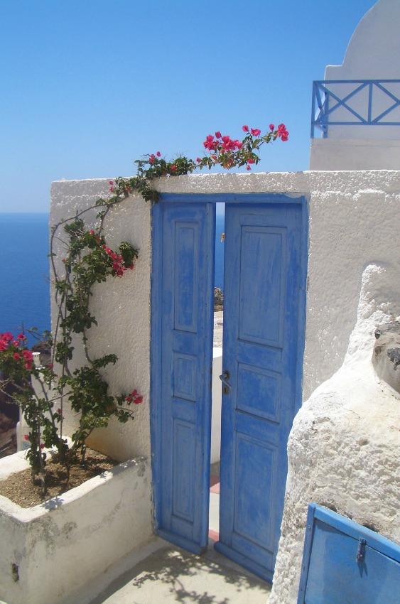 Santorini_Oia Tuer