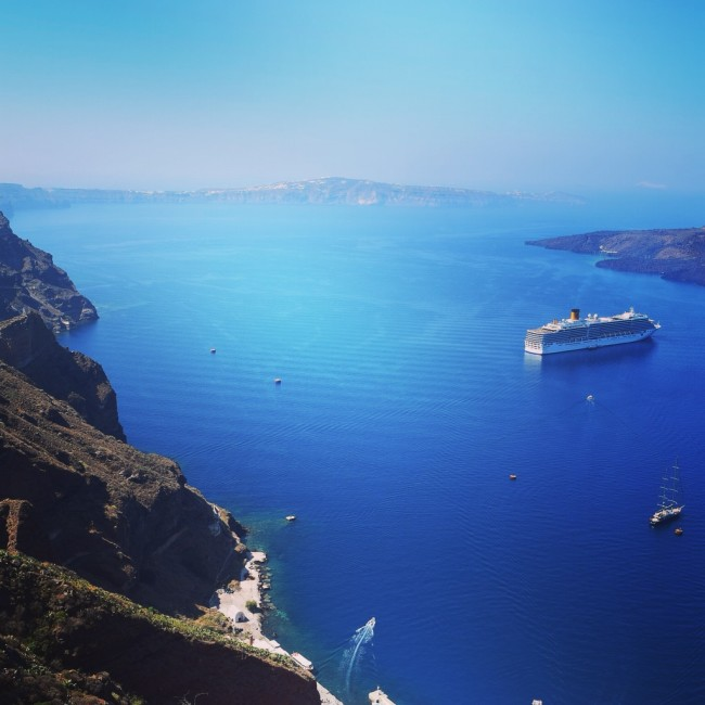 Santorini Fira Ausblick