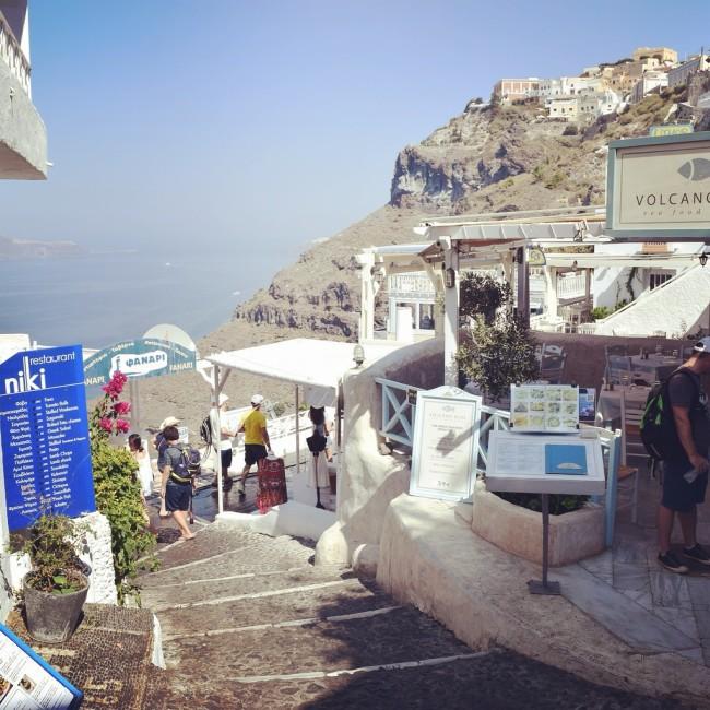 Santorini Fira Treppen