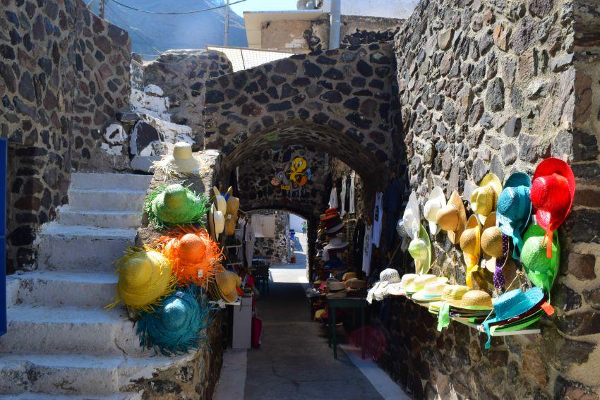 Santorini Fira Hafen