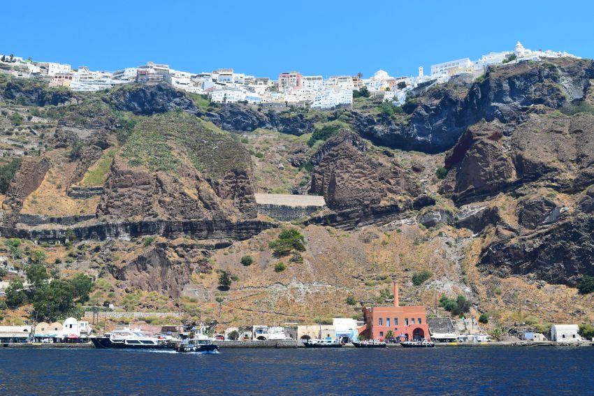 Santorini Fira und Hafen