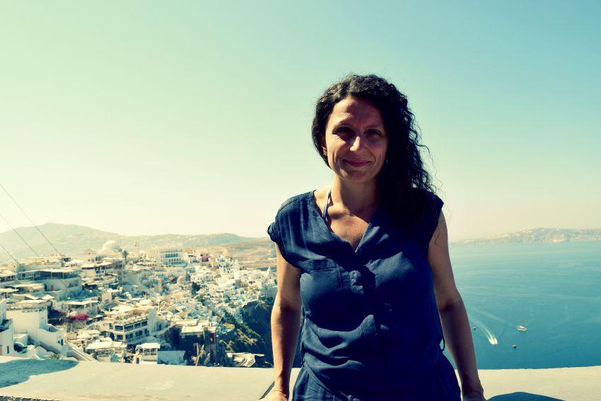 Santorini Fira und Sabine
