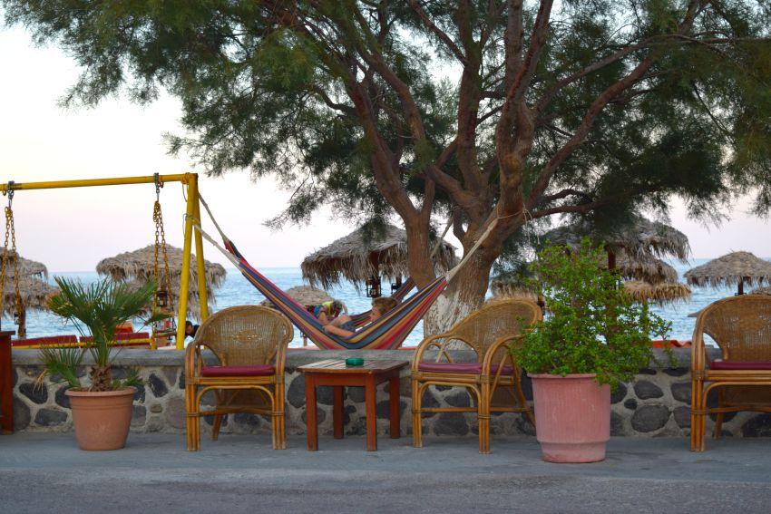 Santorini Perissa Hängematte