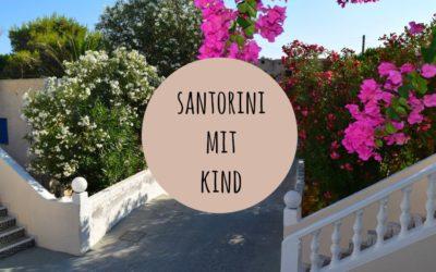 Santorini mit Kind