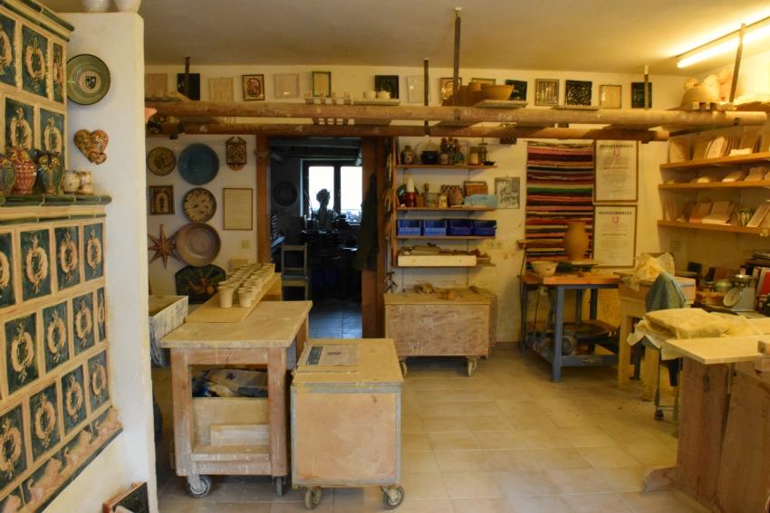 Chiemsee Fraueninsel Töpferei Klampfleuthner Werkstatt