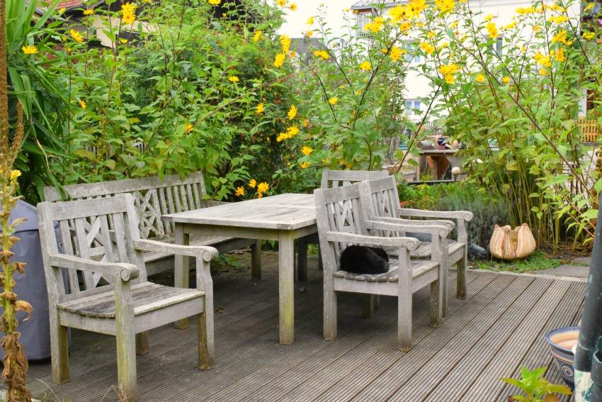 Chiemsee Fraueninsel Terrasse Klampfleuthner