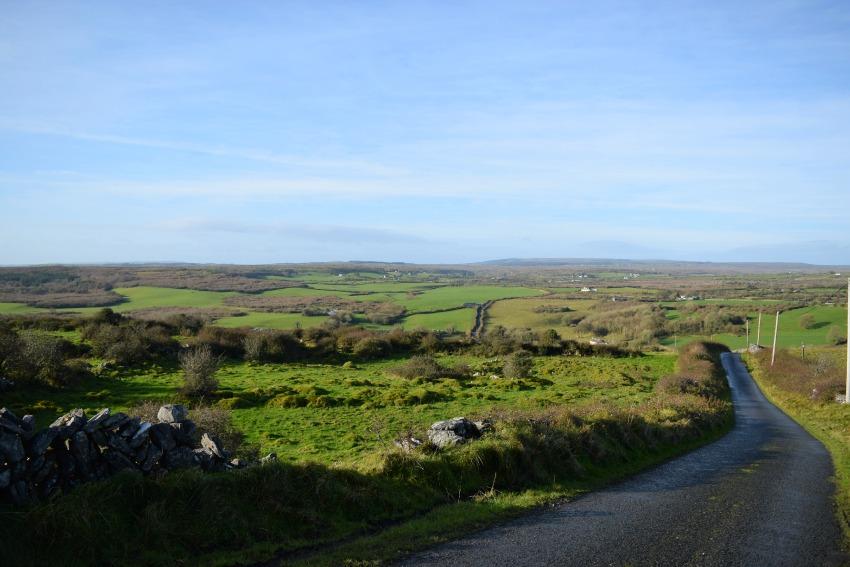Irland Burren Landstraße