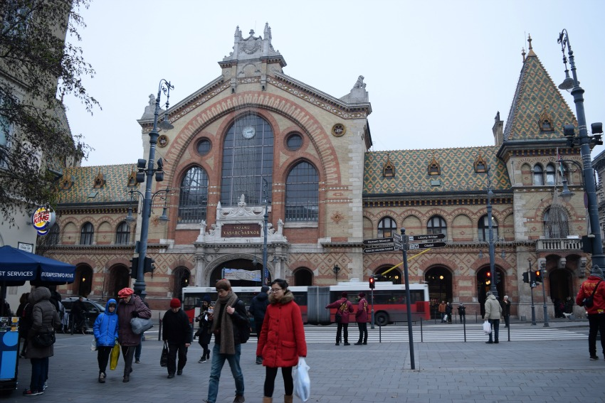 Budapest Große Markthalle außen