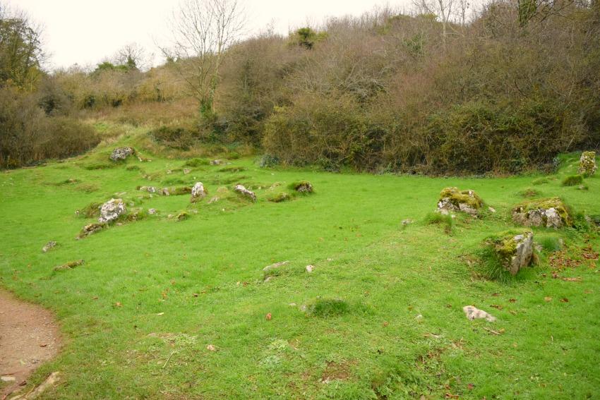 Irland Lough Gur Häuser
