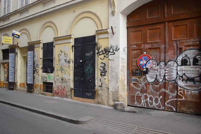 Das Jüdische Viertel in Budapest Graffiti