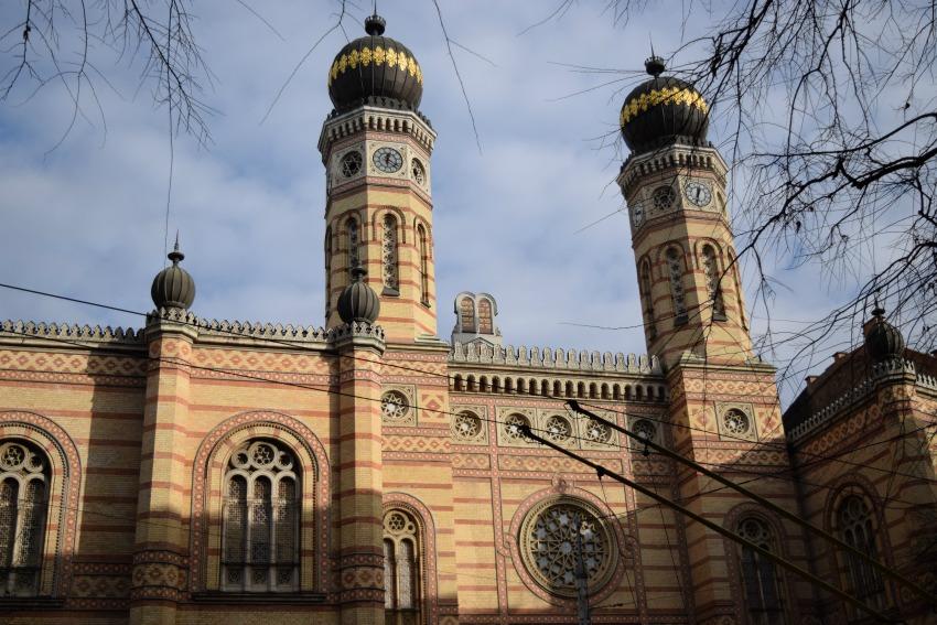 Das jüdische Viertel in Budapest Große Synagoge