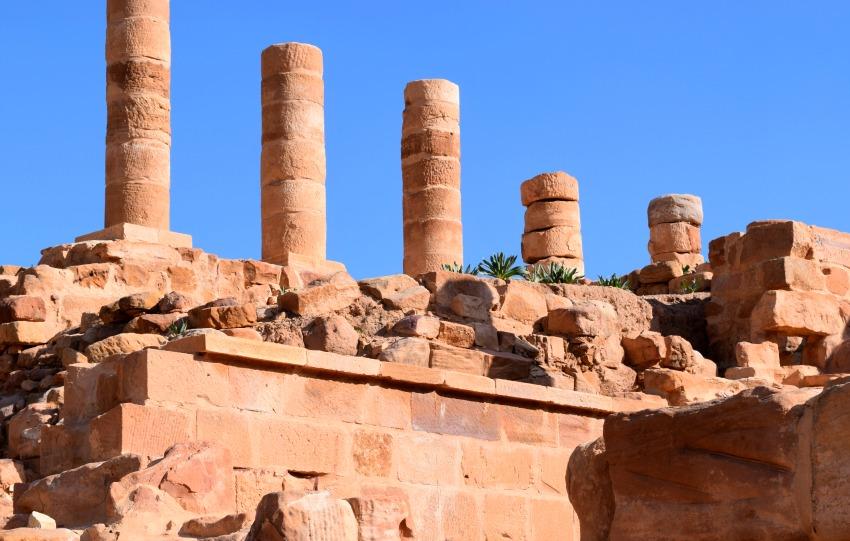 Jordanien Petra Säulen