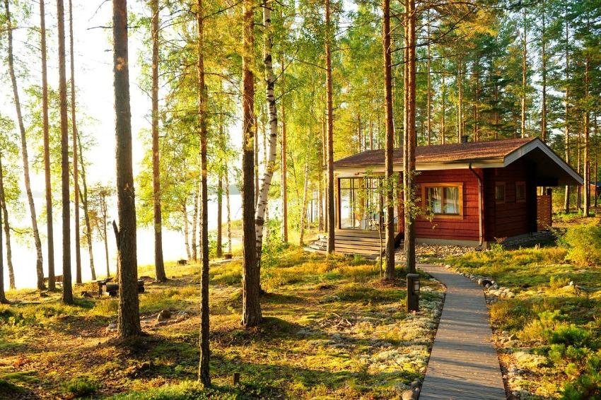 Reise nach Finnland Hütte