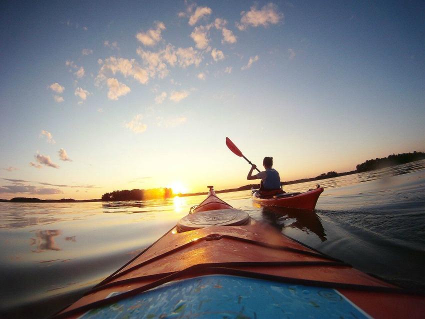 Reise nach Finnland Kayak