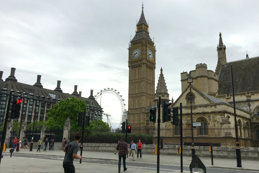 London mit Kind Big Ben