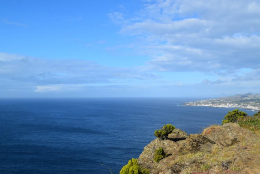 Azoren Unterwegs auf Terceira Ausblick vom Monte Brasil