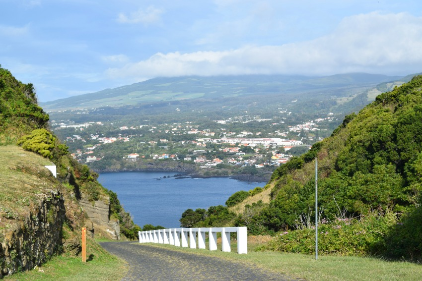 Azoren Unterwegs auf Terceira Blick vom Monte Brasil
