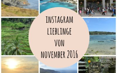 Instagram Lieblinge von Novemer 2016