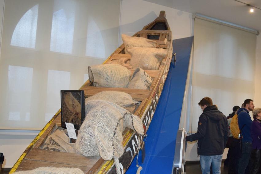 Besuch im Schokoladenmuseum in Köln Boot