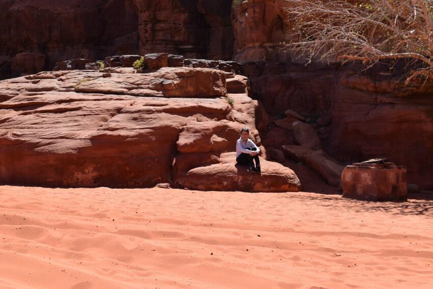 Impressionen von der Wüste Wadi Rum Canyon