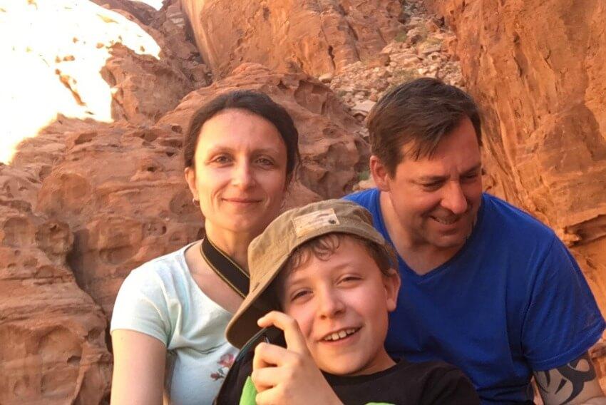 Impressionen von der Wüste Wadi Rum Family Foto Fail