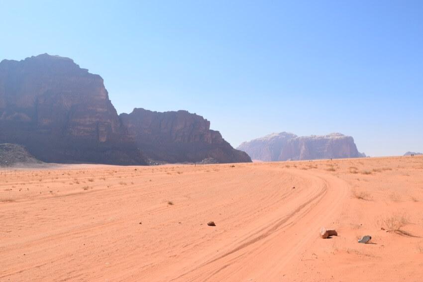 Impressionen von der Wüste Wadi Rum Felsen