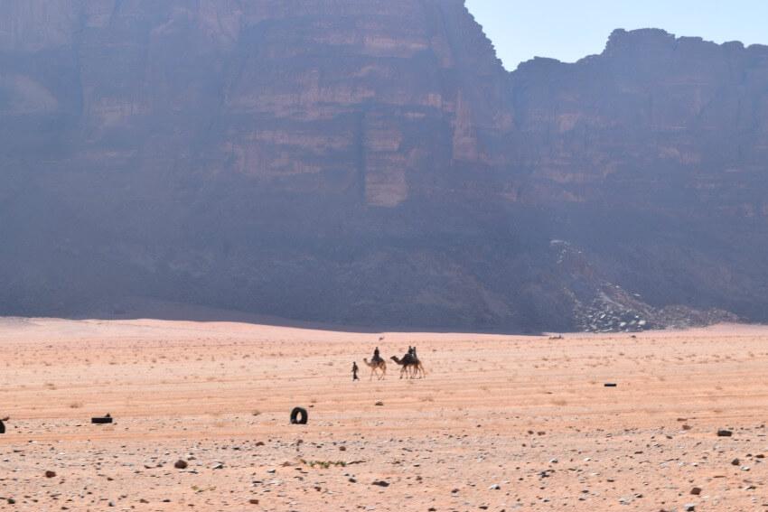 Impressionen von der Wüste Wadi Rum Kamele