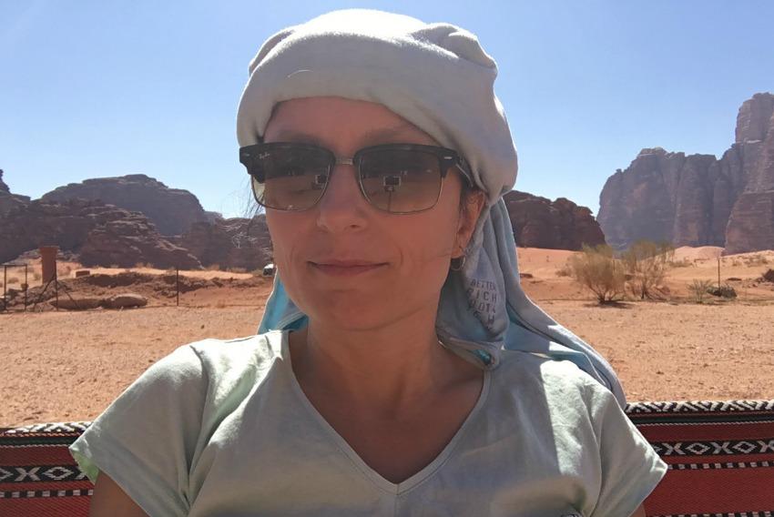 Impressionen von der Wüste Wadi Rum Kopfbedeckung