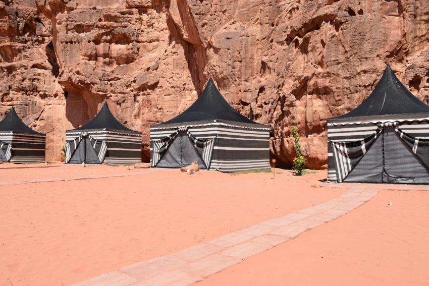 Impressionen von der Wüste Wadi Rum Zelte