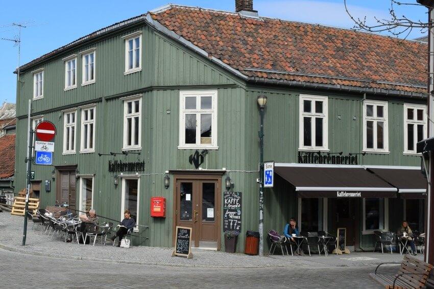 Norwegen - Trondheim Altstadt Café