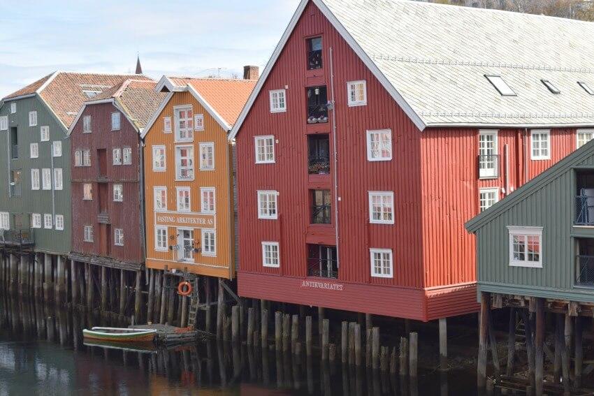 Norwegen - Trondheim Häuser