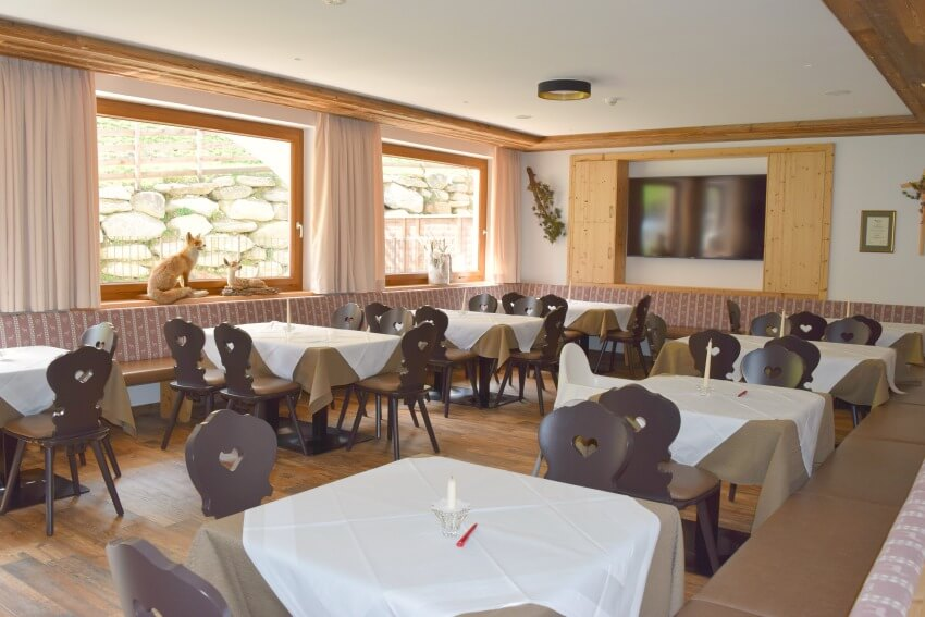 Hotel Almina Jaufental Essbereich