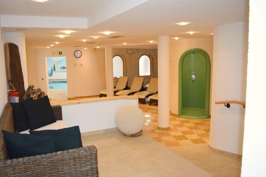 Hotel Almina im Jaufental Saunabereich