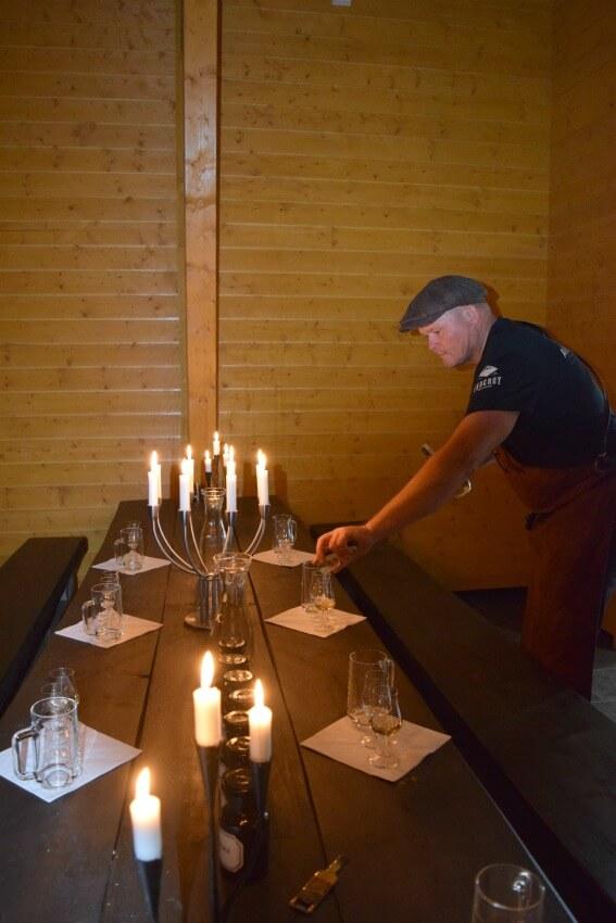 Der Goldene Umweg in Norwegen Berg Farm Aquavit Tasting
