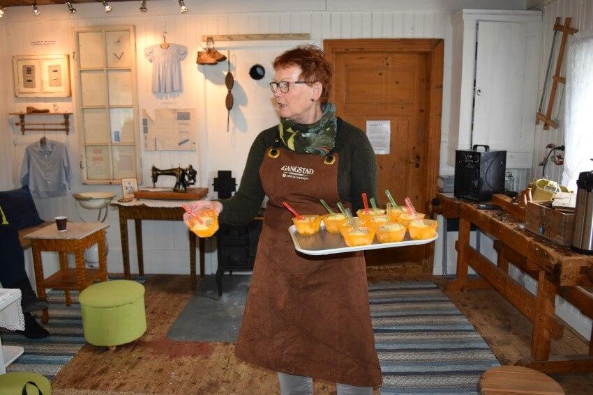 Der Goldene Umweg in Norwegen Gangstad Eis