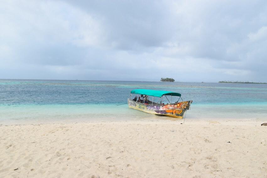 San Blas Inseln Isla Diablo Boot