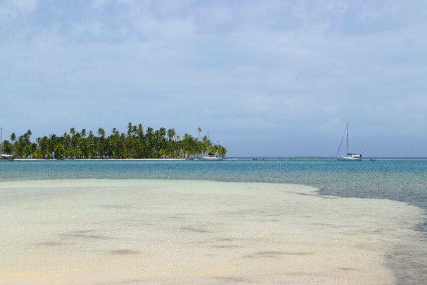 San Blas Inseln Isla Fragata Boote