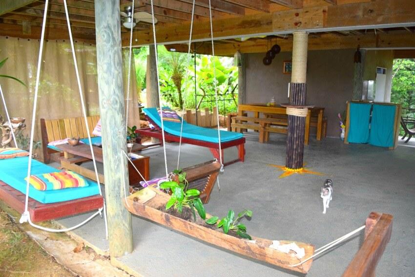 Isla Popa - Corto Lodge Wohnzimmer