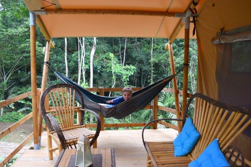 Isla Popa - Corto Lodge Terrasse Tropenzelt