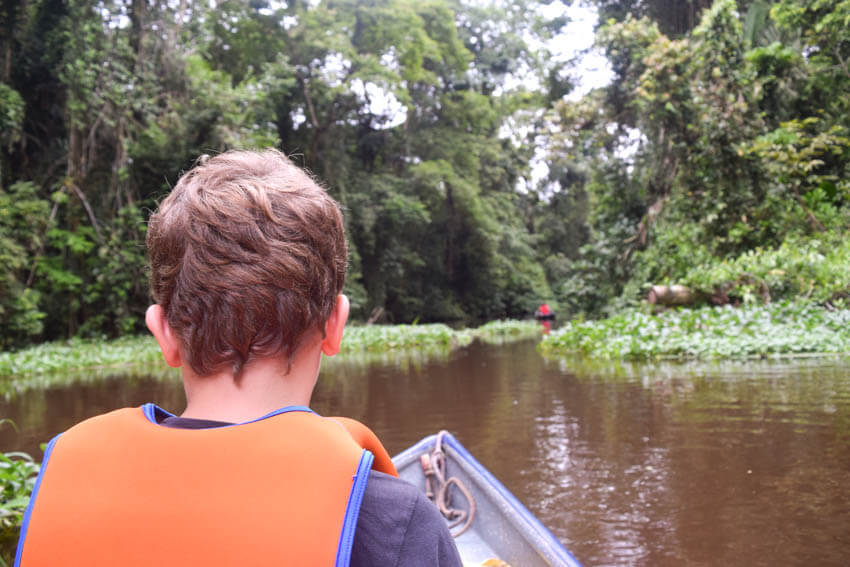 Tortuguero Nationalpark in Costa Rica Kanu