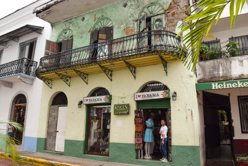 Panama Highlights Casco Viejo altes Haus