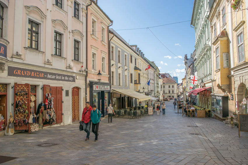 Bratislava Altstadt Straßen