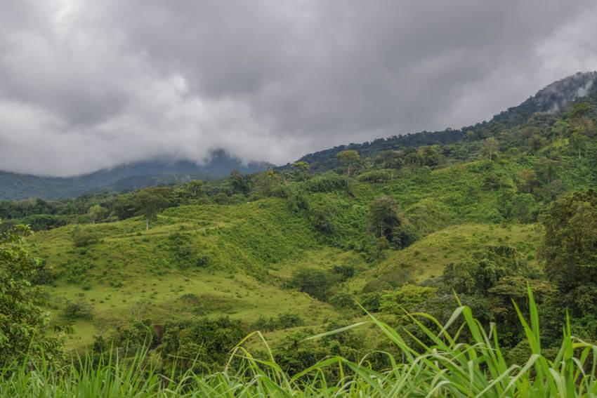 Costa Rica La Fortuna saftig grüne Landschaft