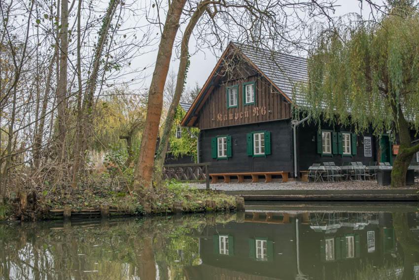 Spreewald im Winter und Herbst Haus