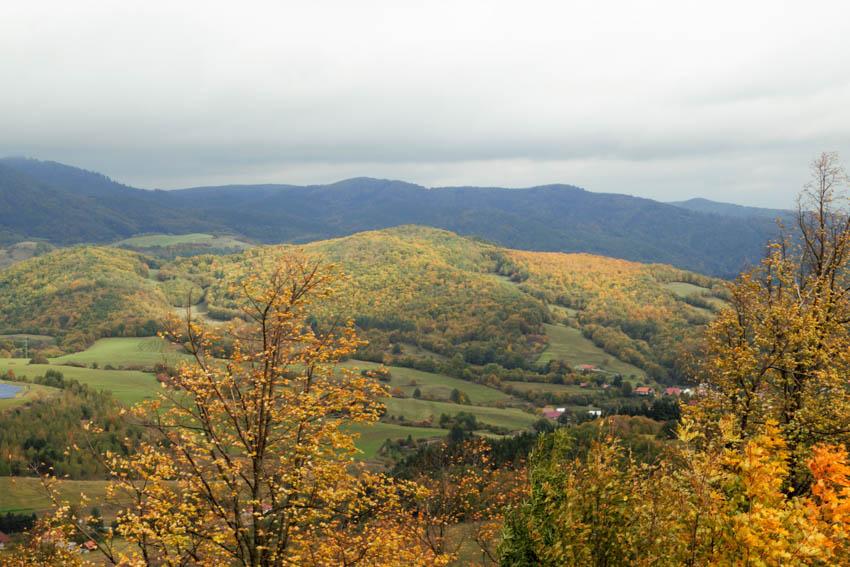 Banská Stiavnica Ausblick vom Kalvarienweg
