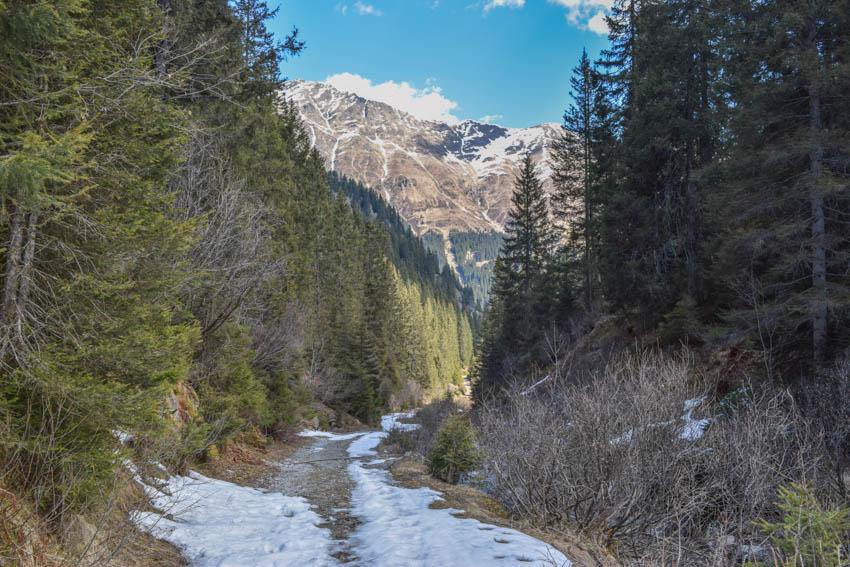 Wanderung zur Martalm schneebedeckte Wege