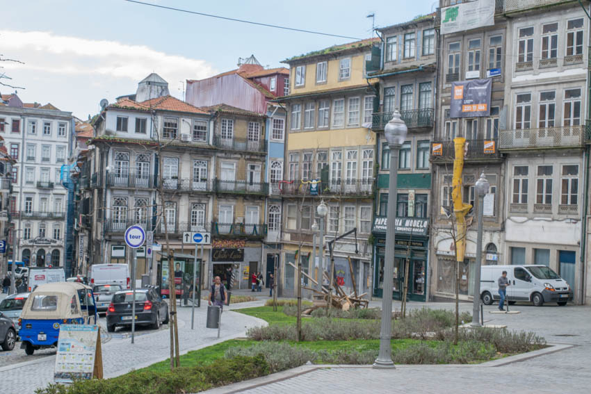 Porto Blick auf Häuser