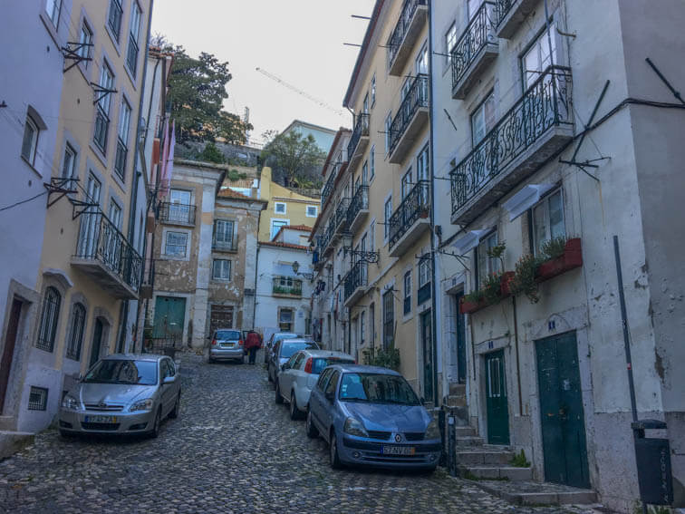 Lissabon Alfama Straßen