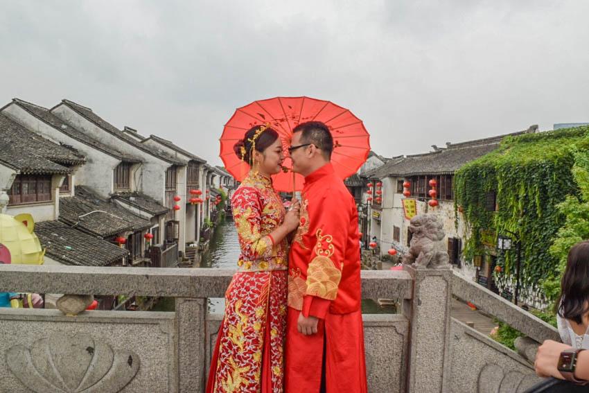 Suzhou Altstadt Paar